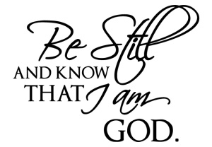 be_still_and_know_wall_decal_single