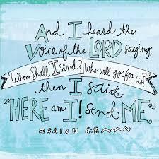 Isiah 6;8